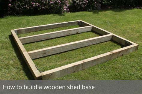 wood base  garden shed   build  simple
