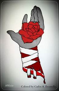 The Mummy's Bleeding Hand With Red Rose Tattoo by CarlosAE ...
