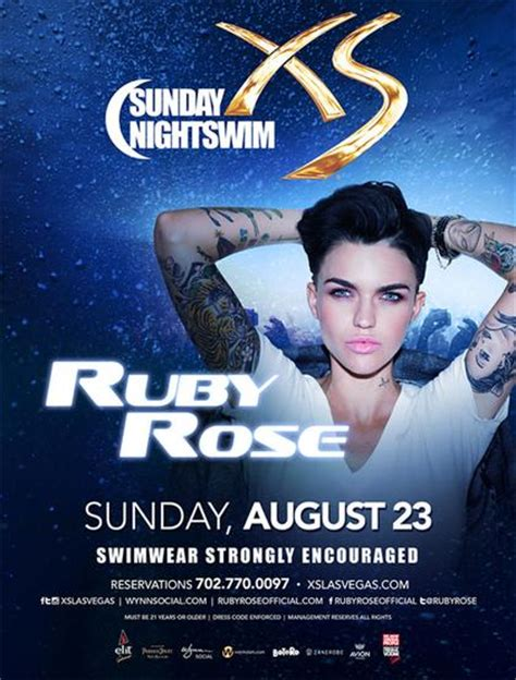 Xs Nightswim Dress Code Ruby Rose Xs Sunday Nightswim At Xs Nightclub On Sunday
