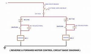 Forward Reverse Motor Control Wiring Circuit With Diagram