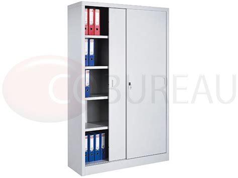 armoire m 233 tallique haute 224 portes coulissantes l 120 x h 200 cm