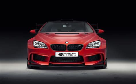 Bmw M6 F13 Red Car Front View Wallpaper