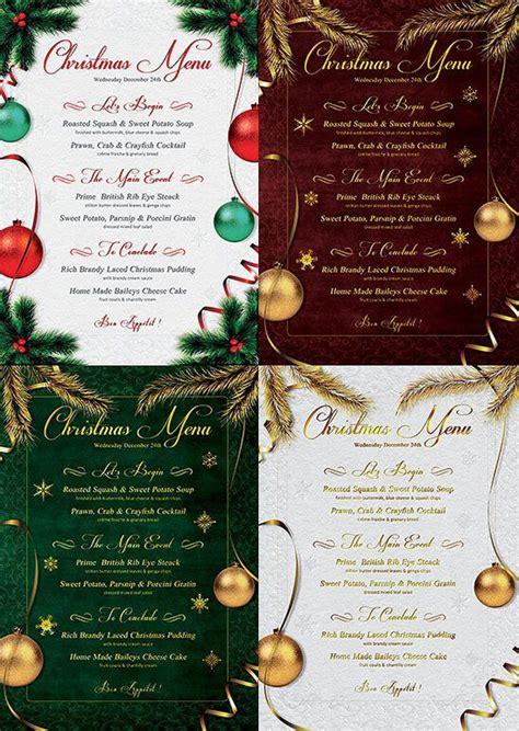 christmas menu templates   restaurant