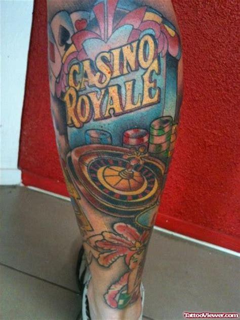 gambling skull tattoos