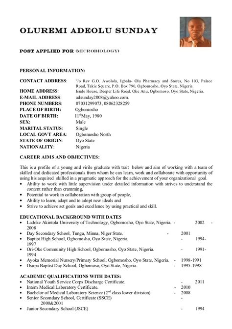 format of writing a curriculum vitae 28 images sle cv