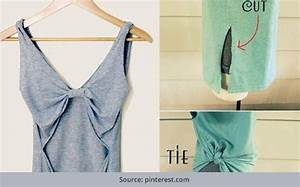 27 diy t shirt cutting ideas to try on your old outfits for T shirt design ideas cutting