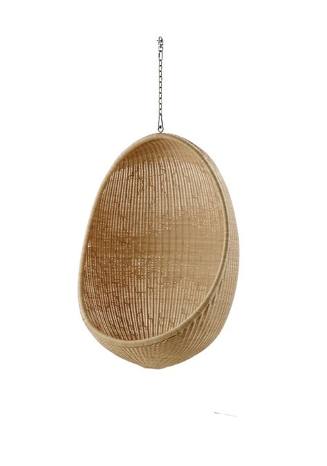 hanging egg chair indoor by nanna ditzel