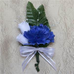 lavender tissue paper royal blue carnation boutonniere
