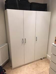 White Ikea Dombs 3 Door Wardrobe In Bournemouth Dorset
