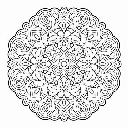 Coloring Mandala Pages Geometry Para Colorear Mandalas