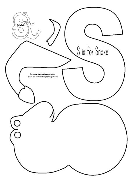 makinglearningfun free early learning printables 841 | ABC LetterSoundCutandPaste snake