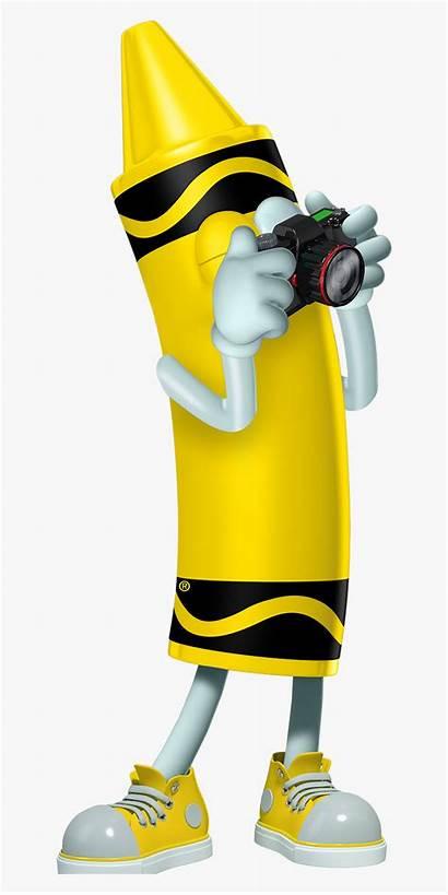 Crayon Cartoon Yellow Character Crayola Characters Taking