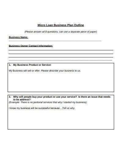 loan business plan templates  google docs word