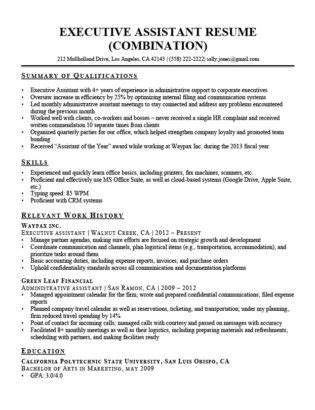 Chronological Resume Summary Of Qualification by Administrative Assistant Resume Exle Write Yours Today