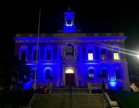 south san francisco s city lights go blue this week