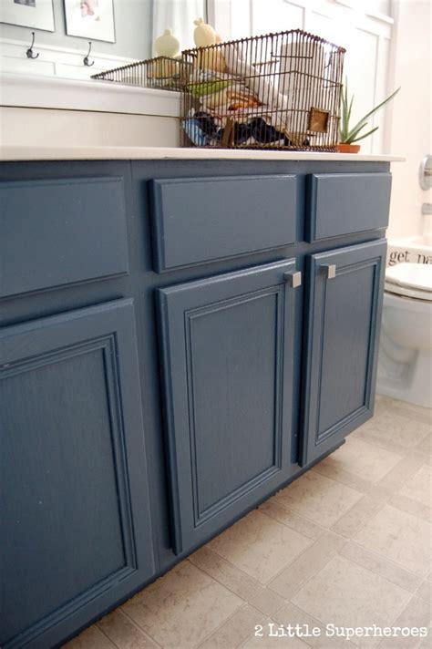 Blue Bathroom Cabinets by Boys Bathroom Makeover 2 Supeheroes2