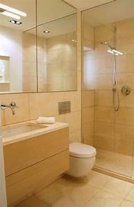 Fliesen Für Kleine Bäder : badezimmer bilder dusche glaswand sandfarbe fliesen holz waschtisch badezimmer pinterest ~ Bigdaddyawards.com Haus und Dekorationen
