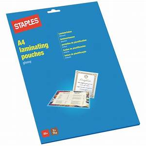 staples transparent glossy laminating pouch a4 package With laminate documents staples