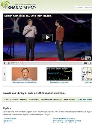 I just discovered Khan Academy on TIME's list of Best ...