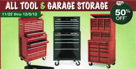 black friday tool cabinet deals tool garage storage entire stock at sears featured 2012