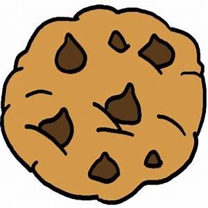 Cartoon Clipart HUGE Chocolate Chip Cookie Dessert ...