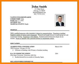 International Resume Standards by 8 International Cv Format Emt Resume