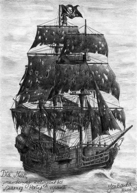 The Black Pearl   Pirate ship tattoos, Pirate ship drawing