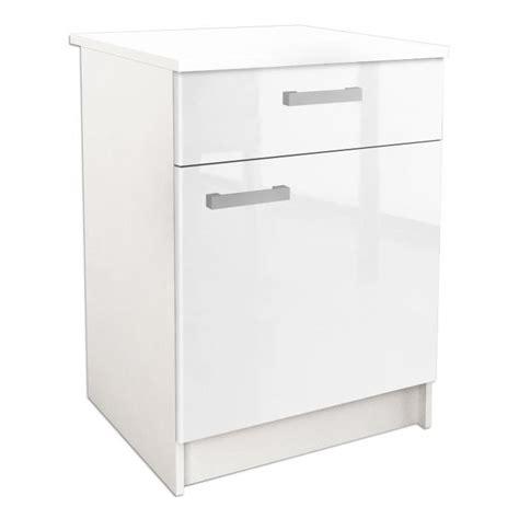 caisson haut de cuisine start caisson bas de cuisine 60 cm blanc haute brillance