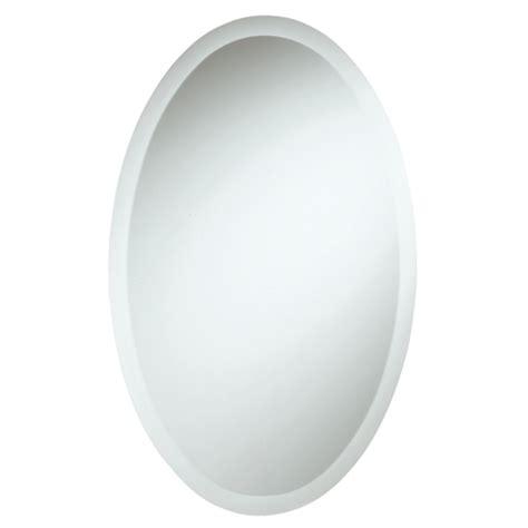 miroir ovale biseaut 233 en verre sans cadre avec taquet rona