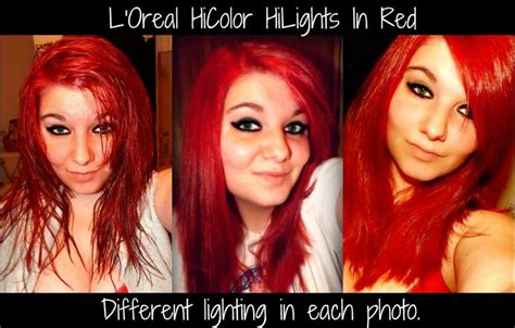 L'oreal Hicolor Hilights In Red! Amazing Product! View My