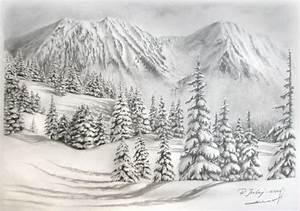   Snowy Mountain Drawings   Pencil Drawings   Pinterest ...