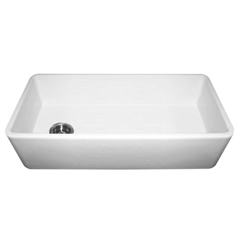 Whitehaus Farmhouse Kitchen Sink by Whitehaus Wh3618 Duet 36 Inch Reversible Fireclay Sink W