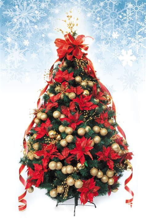 193 rbol de navidad decorado artificial 2 50mts rojo oro