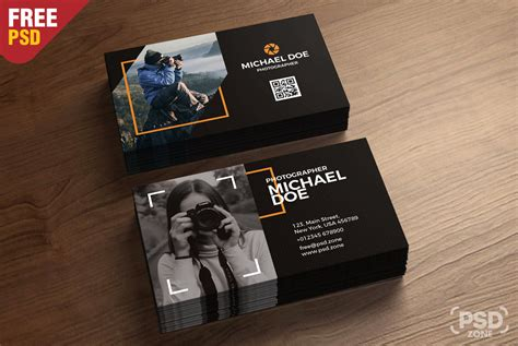 photography business cards template psd uxfreecom