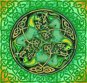 3 Celtic Irish Horses Digital Art by Michele Avanti