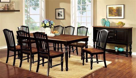 Black Dining Set by 9 Maywille Dining Set In Black Antique Oak