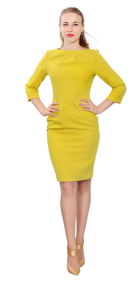 Womens Elegant Classy Work Dress Office Business Long