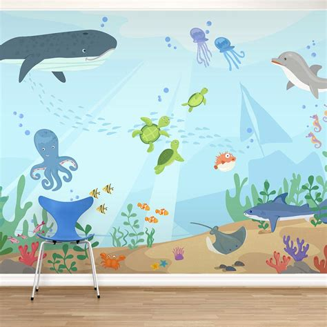 the sea wall mural underwater mural for