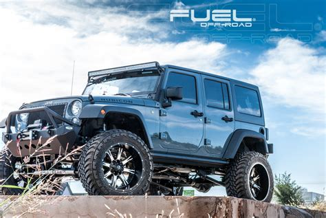 jeep wheels and tires packages this jeep wrangler with fuel wheels has some nutz wheelhero