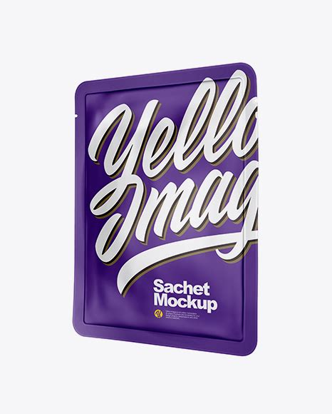 This is a free mockup file with the most unique form of design best to… Matte Sachet PSD Mockup Half Side View - Art-wall Mockup ...