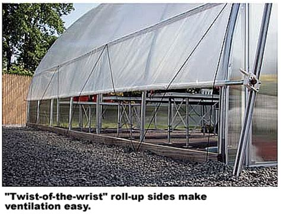 26x12x28 solar greenhouse system with
