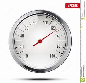 Classic Round Scale Speedometer. Vector Stock Vector ...