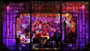Harvey Nichols Christmas Window Displays Hanging Lantern