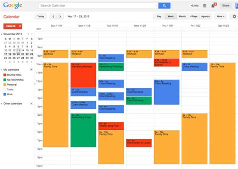 Time Schedule Template Google by Use Multiple Google Calendars To Manage Your Business