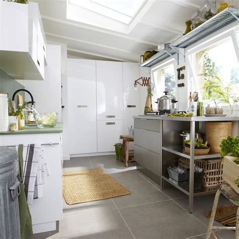 de cuisine meuble de cuisine blanc delinia play leroy merlin