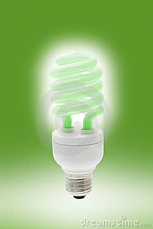 glowing energy saving light bulb royalty free stock images