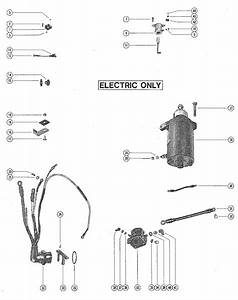 Mercury Marine Model 402  40 Hp  2 Cylinder  Starter Motor  Rectifier  U0026 Wiring Harness Parts