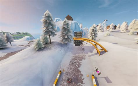 snowy race track poi fortnite wiki