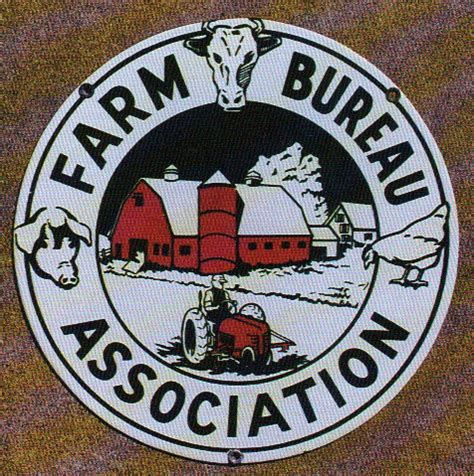 bureau association farm bureau association porcelain sign antique porcelain