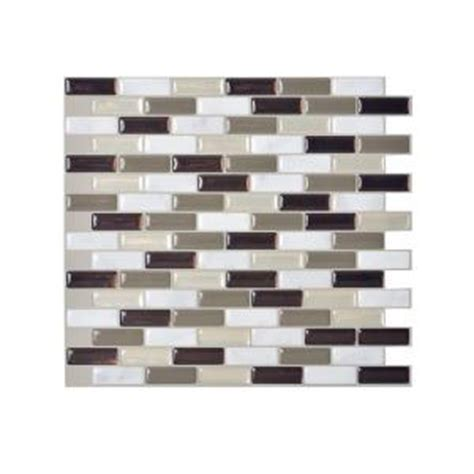 smart tiles peel and stick backsplash presentation smart tiles murano 9 10 in x 10 2 in peel and